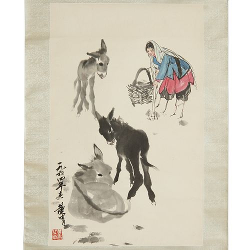 Huang Zhou 署名 黄胄, scroll painting, 1964