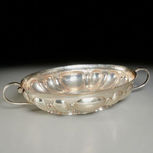 Massive Mendoza .900 silver centerpiece bowl