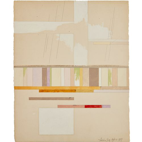 Leslie Gill, pen and watercolor drawing, 1957