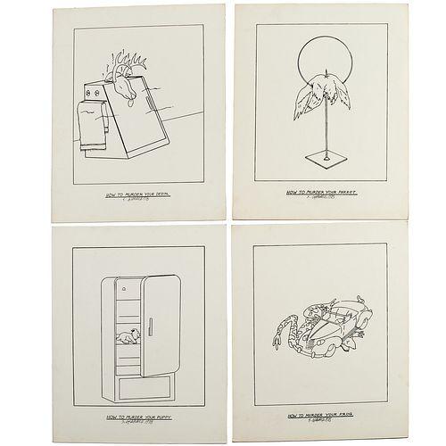 Steve Gianakos, (4) drawings