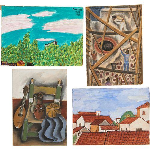 Mexican Modern School, (4) paintings