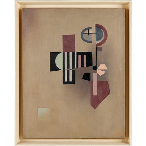 Jean Xceron, oil on canvas, ex-Guggenheim Museum