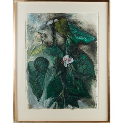 Jim Dine, large mixed media on paper, 1991