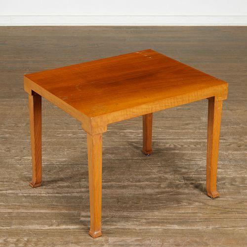 T.H. Robsjohn-Gibbings, walnut side table, Saridis