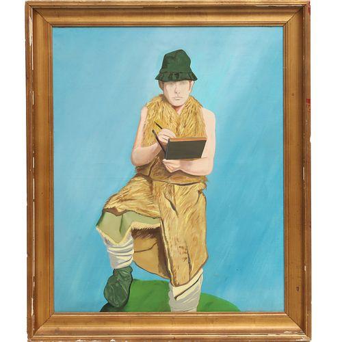 Eduardo Arroyo (attrib), oil on canvas, 1963