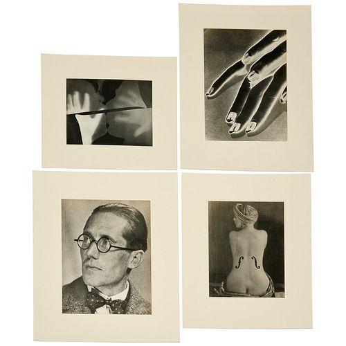 Man Ray, (4) original gravure prints