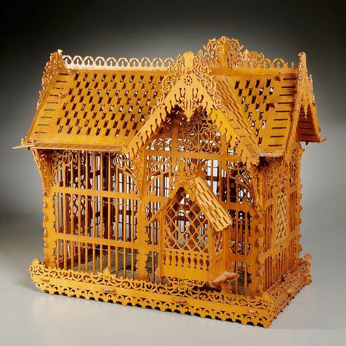 Victorian style aviary, sourced Parish-Hadley