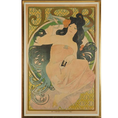 Alphonse Mucha (after), color lithograph, 1898