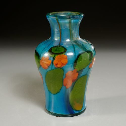 Tiffany Studios Favrile glass paperweight vase