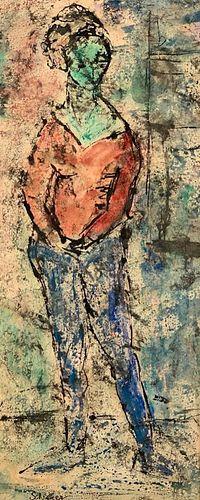 Greta Schreyer Watercolor, Standing Girl