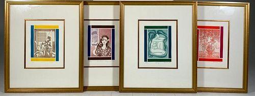 Francoise Gilot, The Four Seasons, Four Etchings
