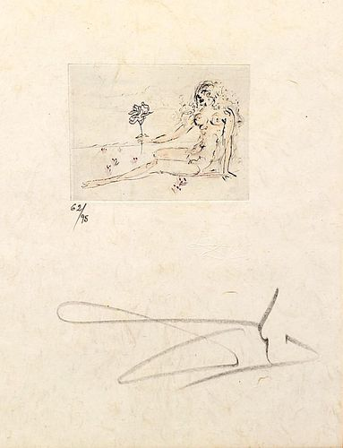 """Salvador Dalí Etching, """"Petits Nus d'Apollinaire"""""""