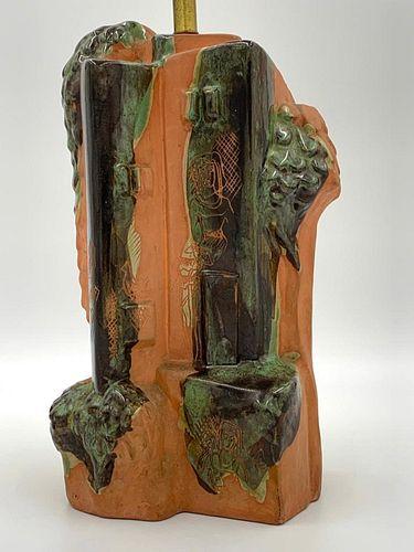 Mariana von Allesch Glazed Terracotta Table Lamp