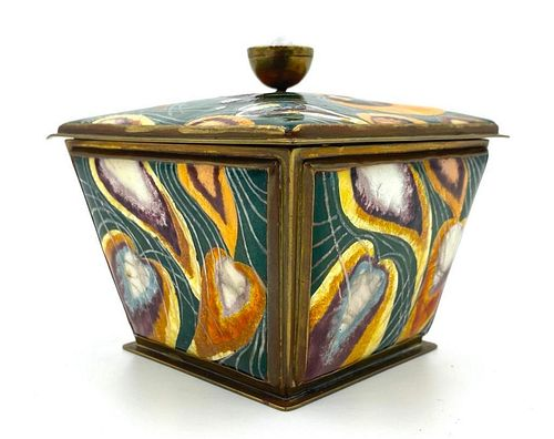 Kenneth F.  Bates Enamel Box, 1930