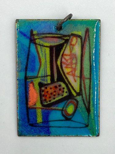 Miriam Peck Smith Enamel on Copper Pendant