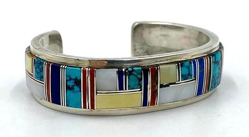American Navajo Cuff Bracelet by Wilber Yazzie