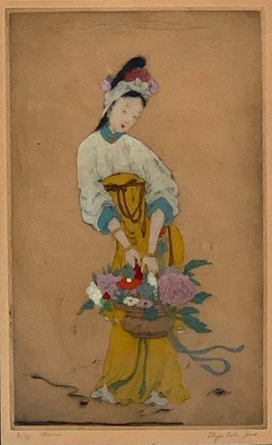 """Elyse Ashe-Lord Etching, """"Chinese"""""""