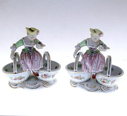Pair of Meissen-Style Master Salts