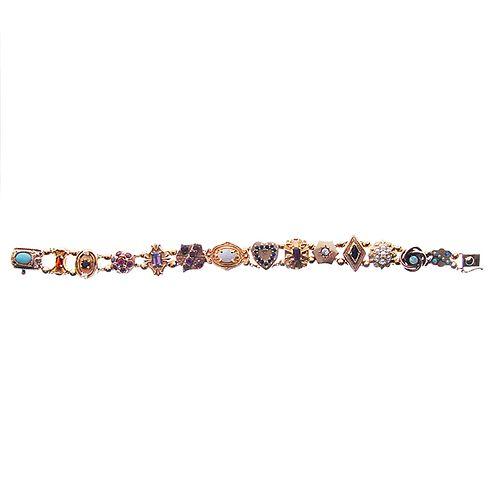 14 karat Slide Bracelet