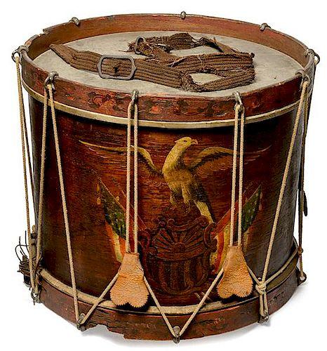 Civil War New York Painted Drum