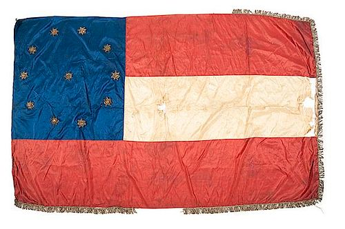 Confederate First National Flag Captured New Orleans by Captain Edward W. Thompson, 1st Maine Light Artillery, Battery A