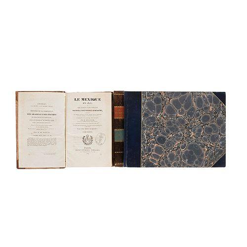 Beulloch, M. Le Mexique en 1823, ou Relation d'un Voyage dans la Nouvelle Espagne... Paris, 1824. Tomos I-II y Atlas. 21 láminas. Pzs:3