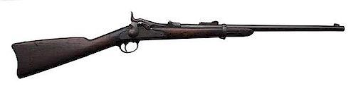 "Important ""Custer Range"" U.S. Springfield Trapdoor Carbine"