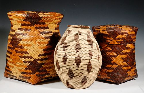(3) NATIVE AMERICAN BASKETS