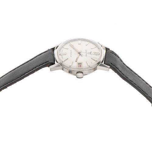 Reloj Croton waterproof en acero Movimiento: manual. Caja: circular de 32 mm en acero. Mica. Carátula: plateada con índices de...
