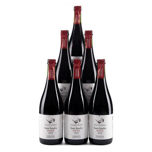 Sans soufre rouge. Cosecha 2014. Takeda winery. Yamagata, Japón. Piezas: 6. En presentaciones de 750 ml.
