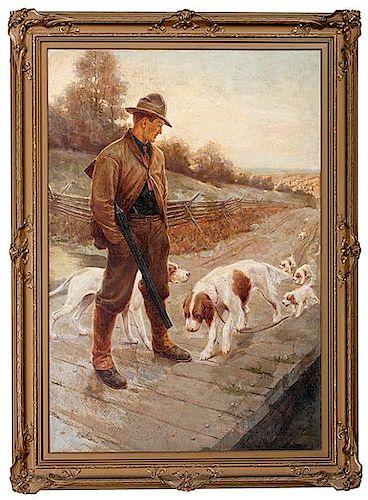 Original Painting for Peter's Cartridge Company 1918 Calendar