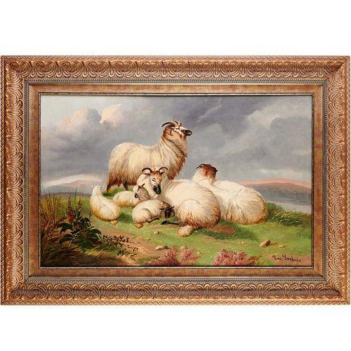 Rosa Bonheur (attrib.), oil on canvas, 19th c.