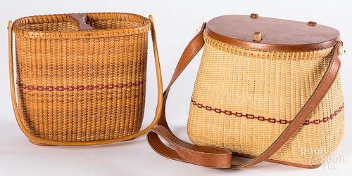 Two Darryl & Karen Arawjo woven basket purses