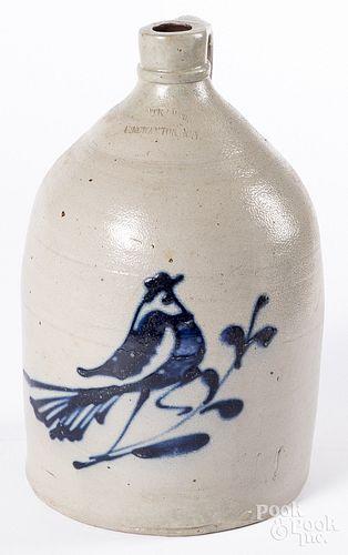 New York stoneware jug, 19th c.
