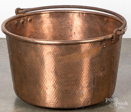 Pennsylvania copper apple butter kettle, 19th c.,