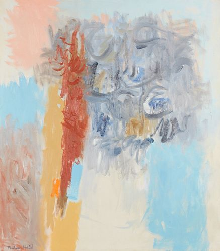 Philip Held Abstract Painting on Canvas