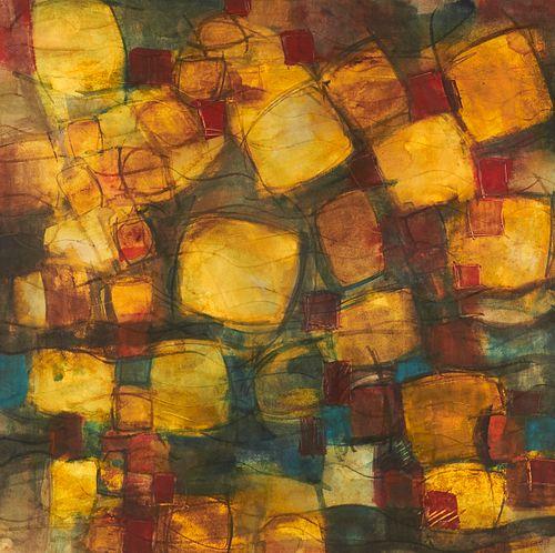 """Joe Christensen """"The Golden Path"""" Watercolor 2004"""