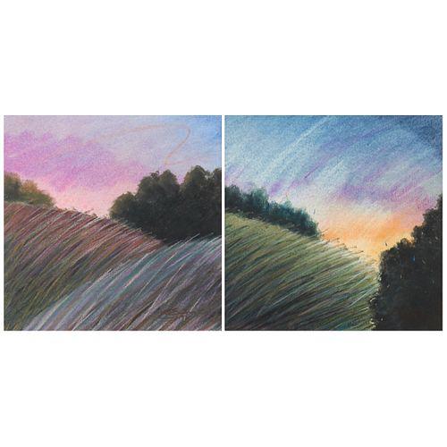 "Steven Smith ""Untitled [landscapes]"" Pastel on Paper 1997"