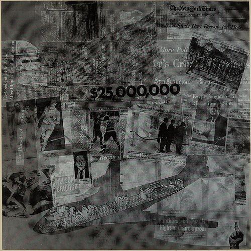 """Robert Rauschenberg """"$25000000"""" Silkscreen"""