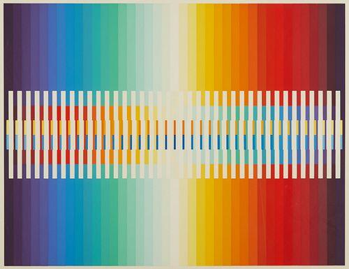 "Yaacov Agam ""Integrated Rainbow"" Silkscreen"