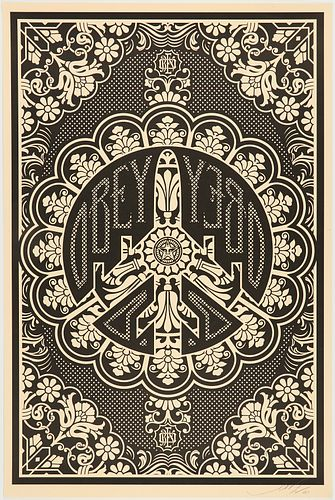 """Shepard Fairey Obey """"Peace Bomber"""" Lithograph"""