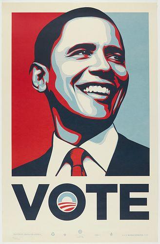 "Shepard Fairey ""Obama Vote"" Print"