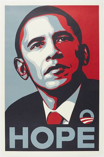 """Shepard Fairey """"Obama Hope"""" Offset Lithograph"""