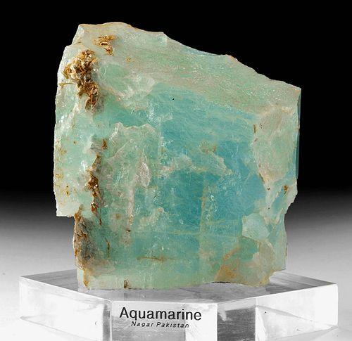 Huge Raw  Aquamarine Crystal - 5953.4 Carats