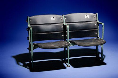 A Set of 1960s Era Wrigley Field Chicago Cubs Club Box Seats