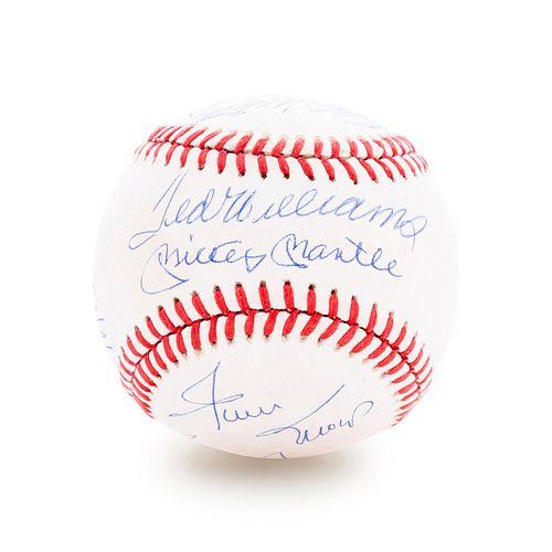 A 500 Home Run Club Signed Baseball Featuring 11 Autographs (PSA)