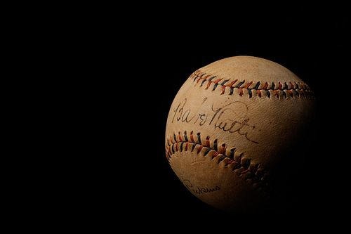 A 1930s Babe Ruth and Lou Gehrig Signed Babe Ruth Home Run Special Spalding Baseball (JSA Letter)