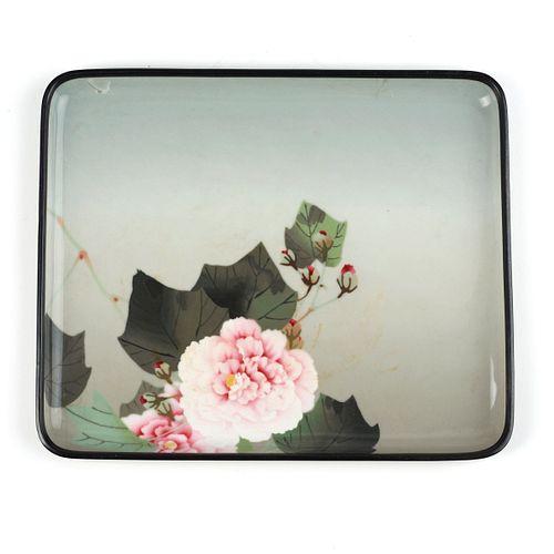 Namikawa Sosuke Floral Cloisonne Enamel Tray - Damaged