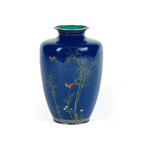 Hayashi Kodenji Cloisonne Enamel Vase - Damaged