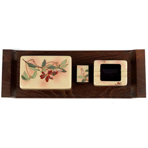 Ando Japanese Cloisonne Smoking Set